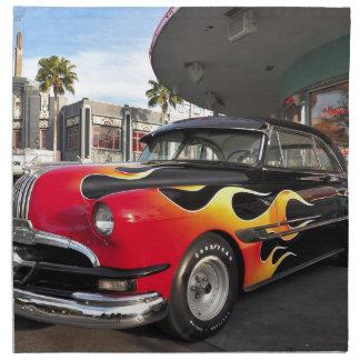 ¡los años 50 Hotrod! Servilletas Imprimidas
