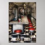 los años 50 - la sala de helado impresiones
