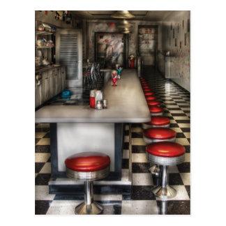 los años 50 - la sala de helado tarjetas postales