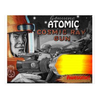 los años 50 negros y blancos del hombre atómico postal