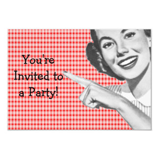 los años 50 que señalan a la mujer joven V2 Invitaciones Personales