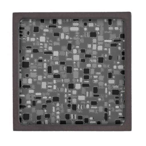 Los años 50 retros alisan cuadrados del cromo cajas de joyas de calidad