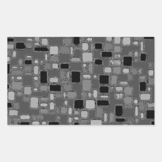 Los años 50 retros alisan cuadrados del cromo rectangular pegatinas