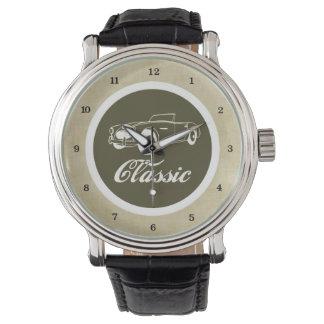 Los años 50 retros del automóvil del coche clásico reloj de mano