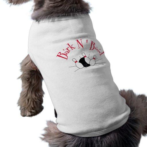 Los años 50 retros del chapoteo del Pin de bolos i Camiseta De Perro