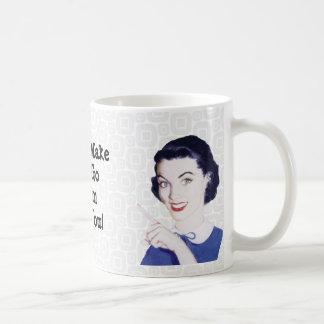 Los años 50 retros que señalan a la mamá tazas de café