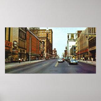 Los años 60 del este de la calle principal impresiones