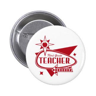 Los años 60 rojos retros del tercer profesor del g pin