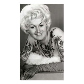 los años 60 tatuaron a la señora tarjetas de visita