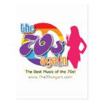 Los años 70 Agains - postal
