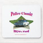 Los años 70 clásicos Ford de la policía Tapete De Ratones