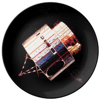 Los años 70 del vintage por satélite platos de cerámica