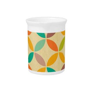 Los años 70 multi enrrollados retros colorean al jarras para bebida