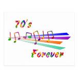 los años 70 para siempre postal
