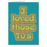 los años 70 (TBA!) Tarjeta