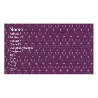 Los años 70 violetas rojos florales plantillas de tarjetas de visita