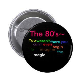 Los años 80 pins
