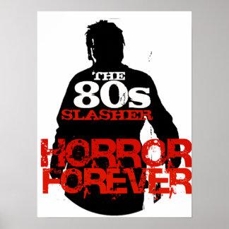 Los años 80 Slasher Póster