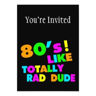 """los años 80 tienen gusto totalmente del tipo del invitación 5"""" x 7"""""""