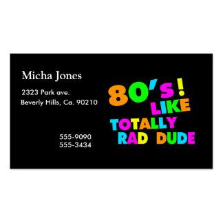 los años 80 tienen gusto totalmente del tipo del tarjetas de visita