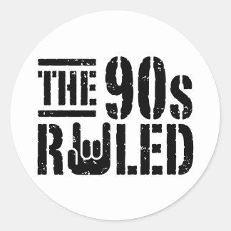 Los años 90 gobernados pegatina redonda