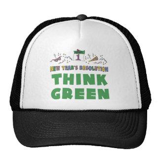 Los Años Nuevos de resolución piensan verde Gorro De Camionero