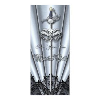 Los Años Nuevos del cordón de la plata de plata de Invitaciones Personales