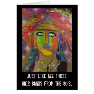 Los años ochenta pelo congriegan cumpleaños felicitacion