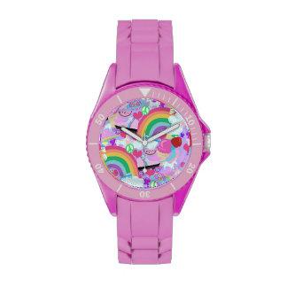 Los años ochenta totalmente rosados relojes