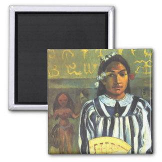 Los antepasados de Tehamana - Paul Gauguin Imán Cuadrado