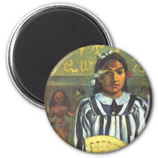 Los antepasados de Tehamana - Paul Gauguin Imán Redondo 5 Cm
