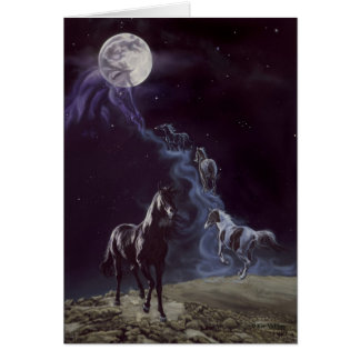 Los antepasados del caballo tarjeta de felicitación