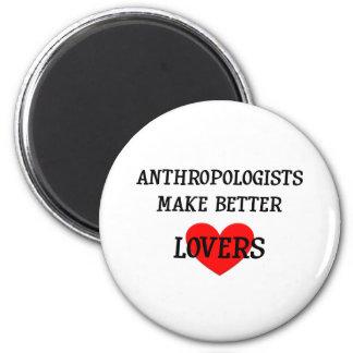 Los antropólogos hacen a mejores amantes imán redondo 5 cm