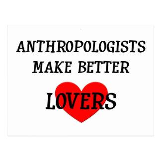 Los antropólogos hacen a mejores amantes postales