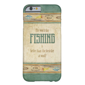 Los aparejos de pesca retros de la apariencia funda de iPhone 6 barely there