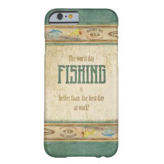 Los aparejos de pesca retros de la apariencia funda para iPhone 6 barely there