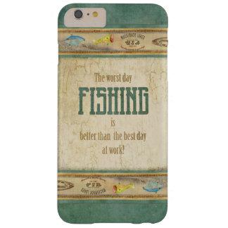Los aparejos de pesca retros de la apariencia funda para iPhone 6 plus barely there
