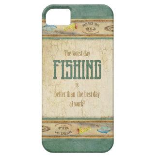 Los aparejos de pesca retros de la apariencia iPhone 5 carcasas