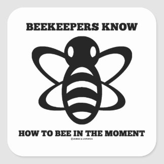 Los apicultores saben a la abeja en el momento (la calcomania cuadradas