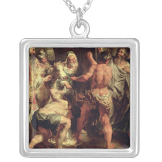 Los apóstoles, San Pablo y el St. Barnabas en Lyst Colgante Cuadrado