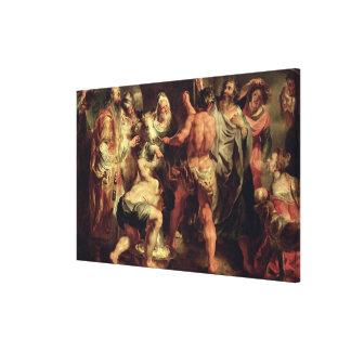 Los apóstoles, San Pablo y el St. Barnabas en Lyst Impresiones En Lona Estiradas