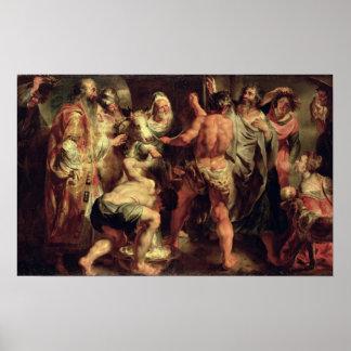 Los apóstoles, San Pablo y el St. Barnabas en Lyst Póster