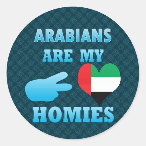 los árabes son mi Homies Etiqueta Redonda