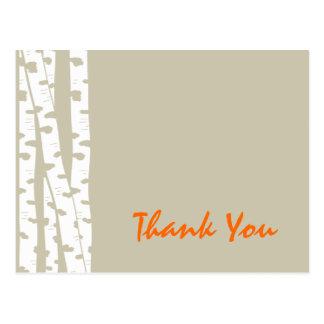Los árboles de abedul le agradecen postales