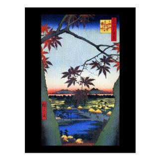 Los árboles de arce - Ando Hiroshige Postal