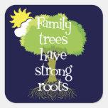 Los árboles de familia tienen pegatinas fuertes de