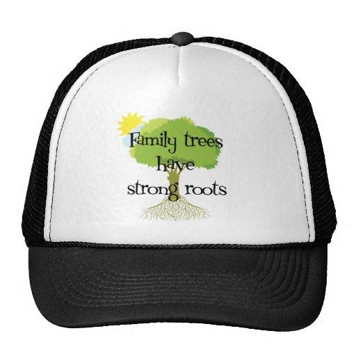 Los árboles de familia tienen raíces fuertes gorros bordados