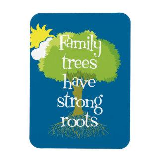 Los árboles de familia tienen raíces fuertes imanes