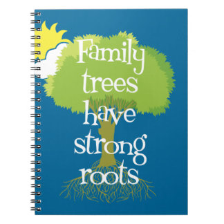 Los árboles de familia tienen raíces fuertes libros de apuntes con espiral