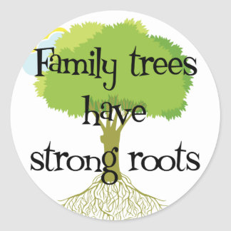 Los árboles de familia tienen raíces fuertes etiquetas redondas